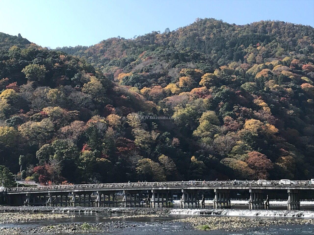 京都 嵐山の渡月橋