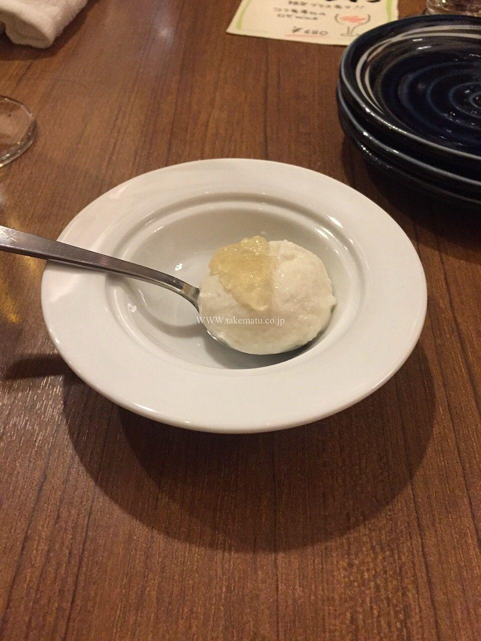 玉ねぎとカブのアイス